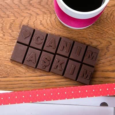 Sevgiliye Romantik Hediye Harf Çikolatalar