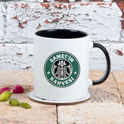 Kişiye Özel Logolu Renkli Kahve Kupası