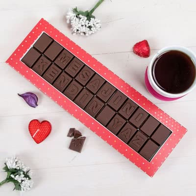 Öğretmen Sevgili İçin Harf Çikolata Hediyesi