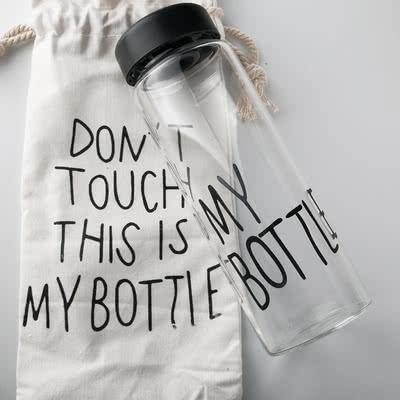 Doğum Günü Hediyesi My Bottle Yazılı Cam Şişe