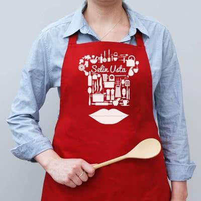 Sevgiliye Özel Doğum Günü Hediyesi Mutfak Önlüğü