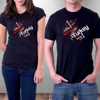 Typography Türkiye Tasarımlı Hediye Tişört