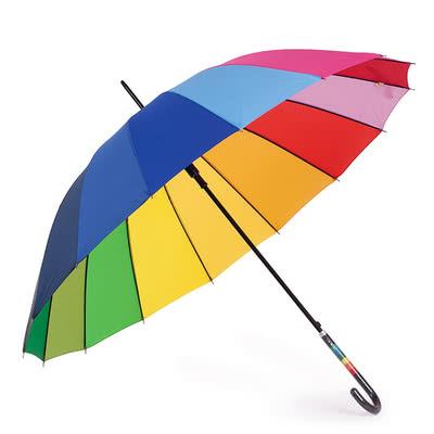 Kız Arkadaşa Doğum Günü Sürprizi Gökkuşağı Şemsiye