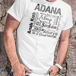 Adanaya Özel Baskılı Tişört