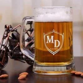Arma Desenli Kişiye Özel Bira Bardağı