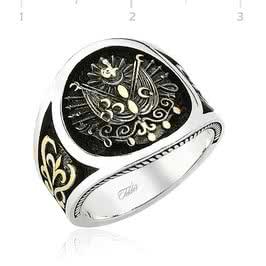 Armalı Gümüş Osmanlı Yüzüğü