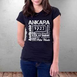 Ankaraya Özel Baskılı Tişört