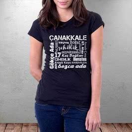 Çanakkale Şehri Özellikleri Yazılı Tişört