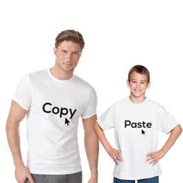 Copy Paste Baba Çocuk Çift Tişörtü
