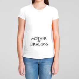 Dragonların Annesi Baskılı Hamile Tişörtü