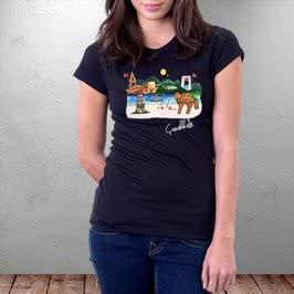 Dur Yolcu Çanakkale Şehri Tasarımlı Tişört