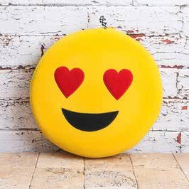 Emoji Sarı Kalpli Seyahat Yastığı
