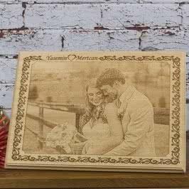 Evlilik Hediyesi Ahşap Foto