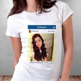 Fotoğraf Baskılı İnstagram Tişört