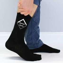 İsim Yazılı Kişiye Özel 6lı Erkek Çorap Seti