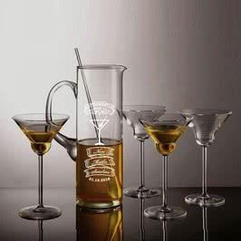İsme Özel Cam Martini Seti