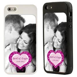 Kalp Desenli iPhone 5-5s-5c Kılıfı