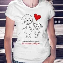 Kız Çocuktan Anneler Günü Hediyesi Tişört