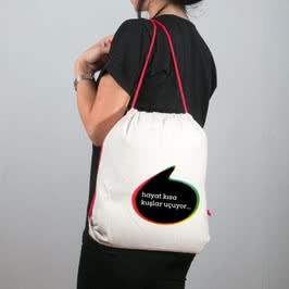 Konuşma Balonu Bez Çanta Tişört Kombini
