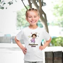 Küçük Prenseslere Özel Baskılı İsim Yazılı Tişört