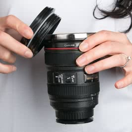 Lens Tasarımlı Sıcak Soğuk Termos Kupa