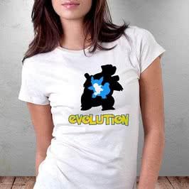 Poke Su Evrimi Tasarımlı Avcı Tişörtü