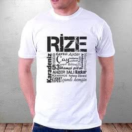 Rizelilere Özel Tasarımlı Baskılı Tişört