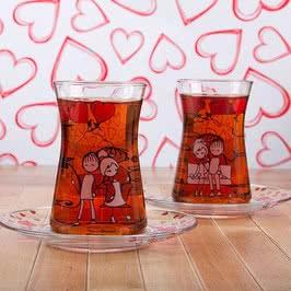 Şeker Peker Çay Bardağı Seti