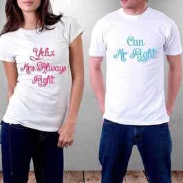 Sevgililere Özel Çift Tişörtü