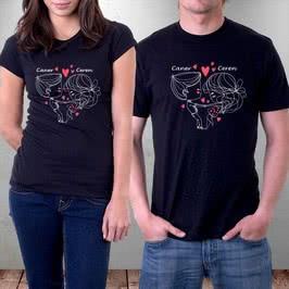 Sevgiliye Hediye Aşık Çift Tişörtü