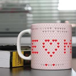 Sevgiliye Özel Kalpli Kupa