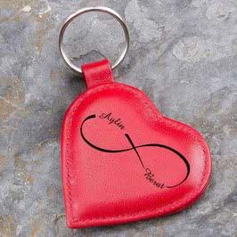 Sonsuz Aşkıma Deri Anahtarlık