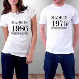 Tarih Yazılı Kişiye Özel Baskılı Tişört