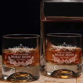 Viski Kadeh Seti Babaya Hediye