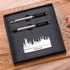 Yeni İş Hediyesi İstanbul Tasarımlı Kartvizitlik Kalem Seti