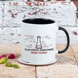 Yılın Kimya Öğretmenine Hediye Renkli Kahve Kupası