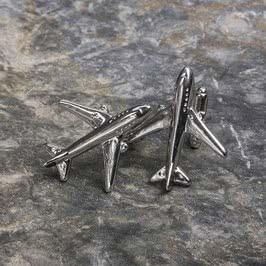 Yolcu Uçağı Tasarımlı Kol Düğmeleri