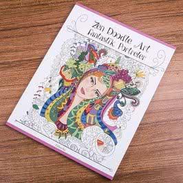 Zen Doodle Art Fantastik Portreler Boyama Kitabı