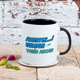 Anestezi Uzmanına Hediye Renkli Kahve Kupası