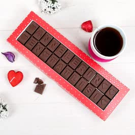 Annelerin En Tatlısı Yazılı Harf Çikolata