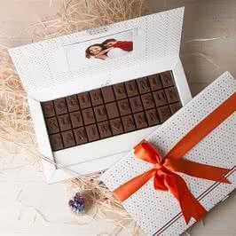 Anneye Doğum Günü Hediyesi Çikolata
