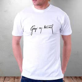 Atatürk İmzalı Baskılı Tişört