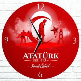 Atatürk Tasarımlı Hediye Duvar Saati
