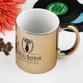 Avukatlara Özel Kurumsal Altın-Gümüş Kahve Kupası
