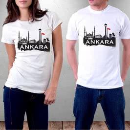 Başkent Ankara Tasarımlı Baskılı Tişört