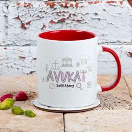 Bayan Avukatlara Hediye Renkli Kahve Kupası