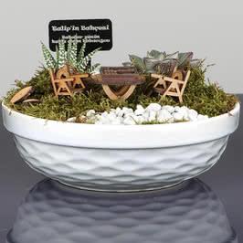 Biricik Babama Hediye Tavlalı Minyatür Bahçe