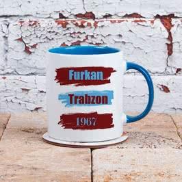 Bordo Mavi Renkli Taraftar Kahve Kupası