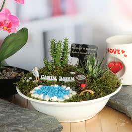 Canım Babama Hediye Hamaklı Minyatür Bahçe