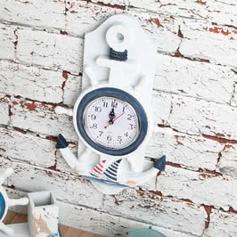 Çapa Tasarımlı Hediye Duvar Saati